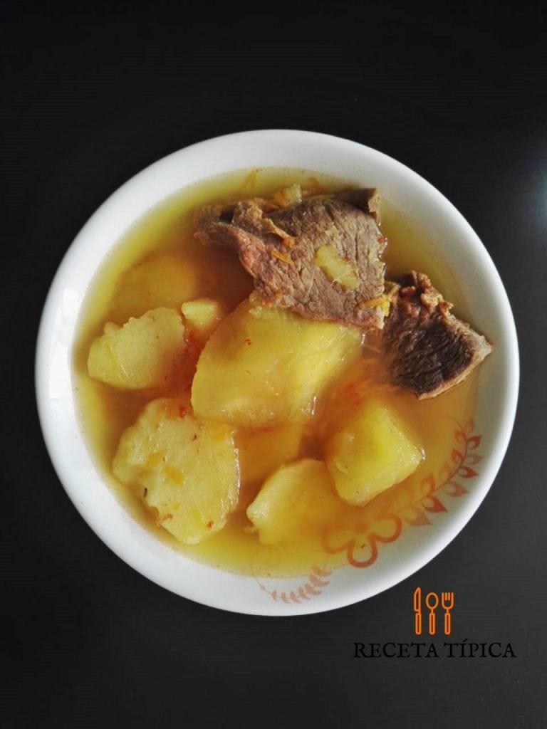 cassava and potato soup