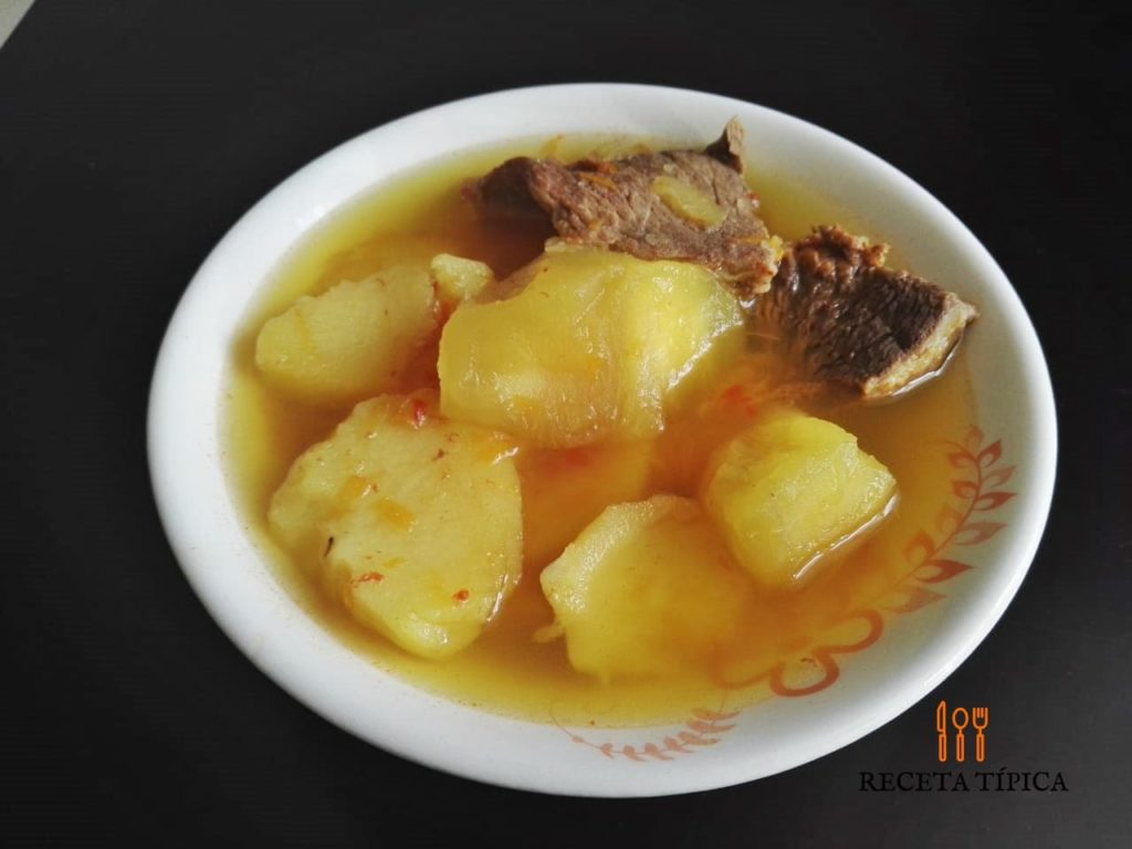 Dish with Cassava and potato soup
