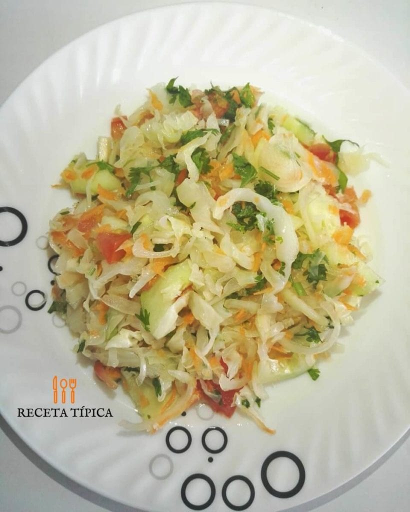 Dish with Cabbage Salad