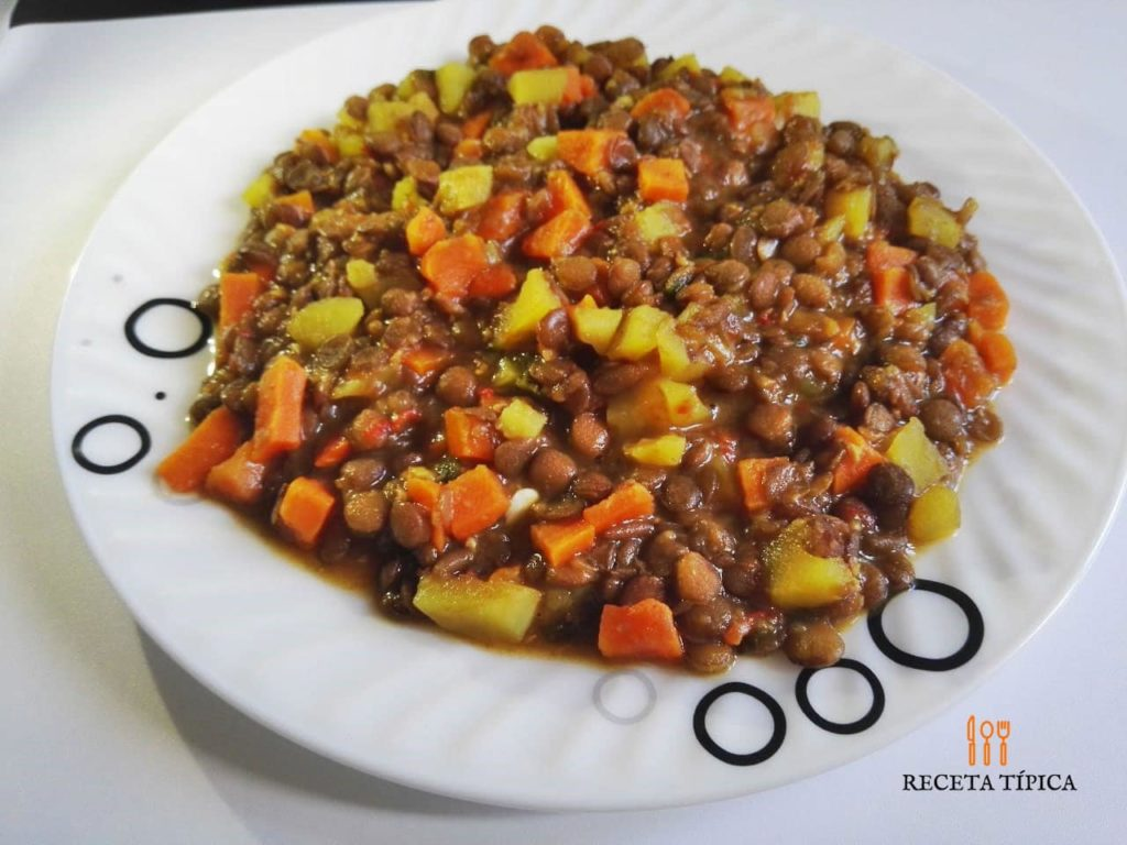 Dish with Lentil stew
