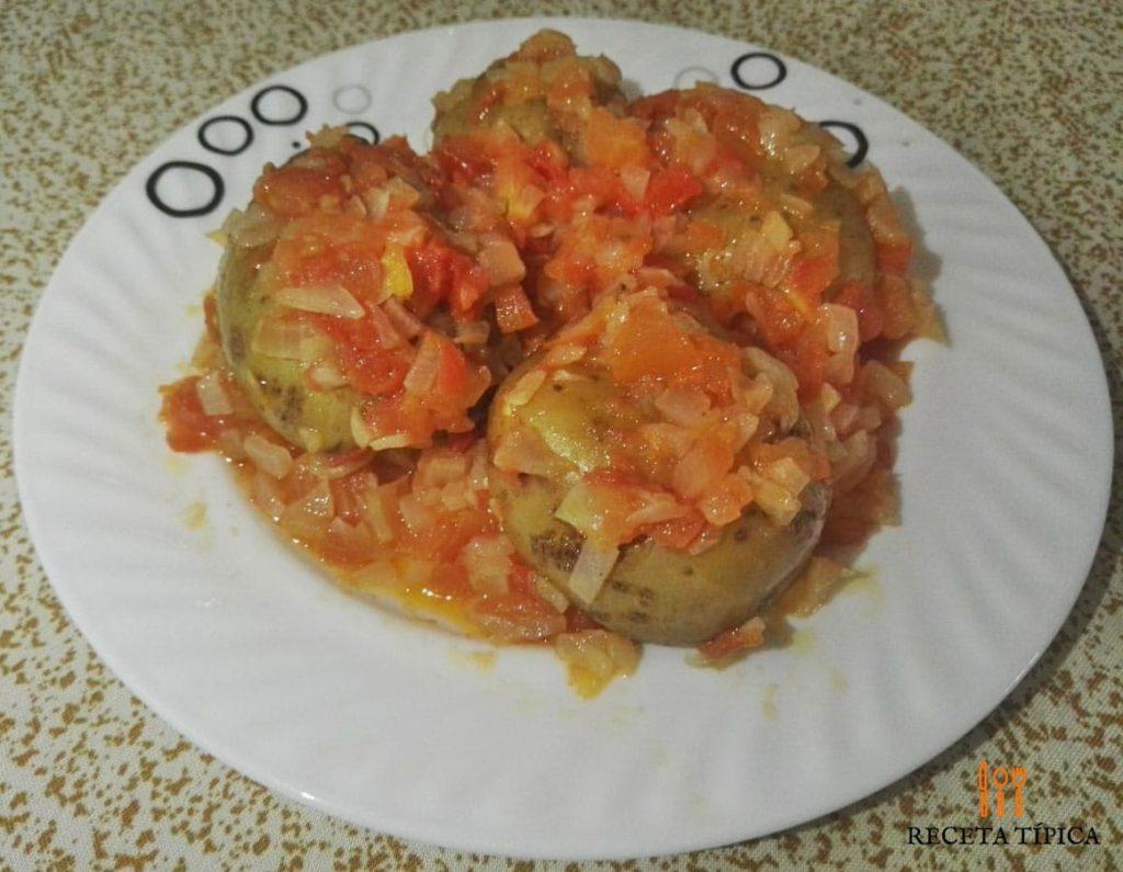 papas guisadas or Stewed Potatoes