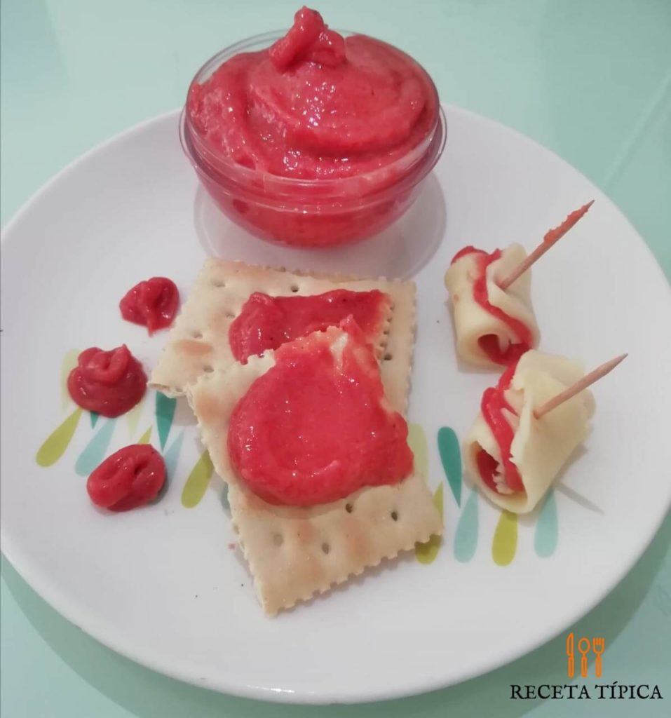 Dish with Guava Jelly