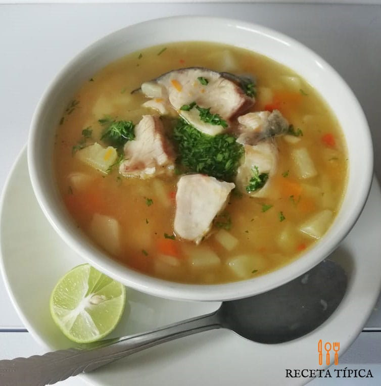 Dish with Coconut Fish Soup