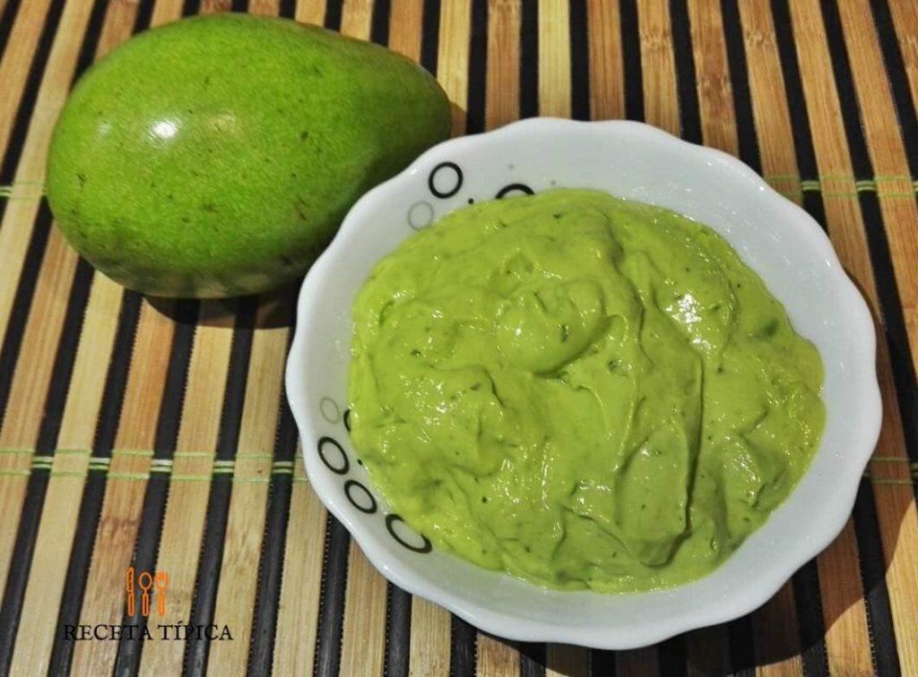 Dish with avocado salsa