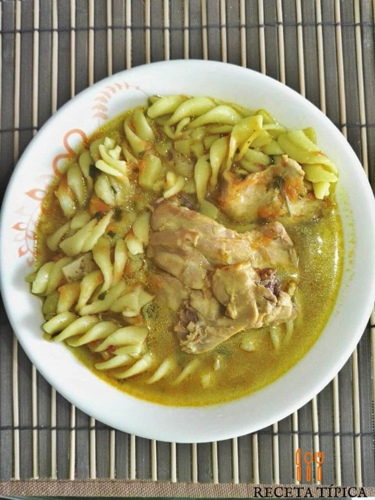 Plate with Pasta Soup