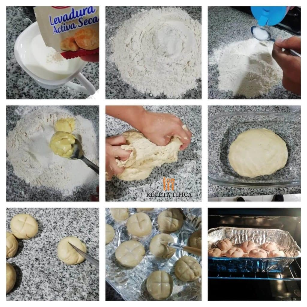 Step-by-step instructions for preparing milk bread