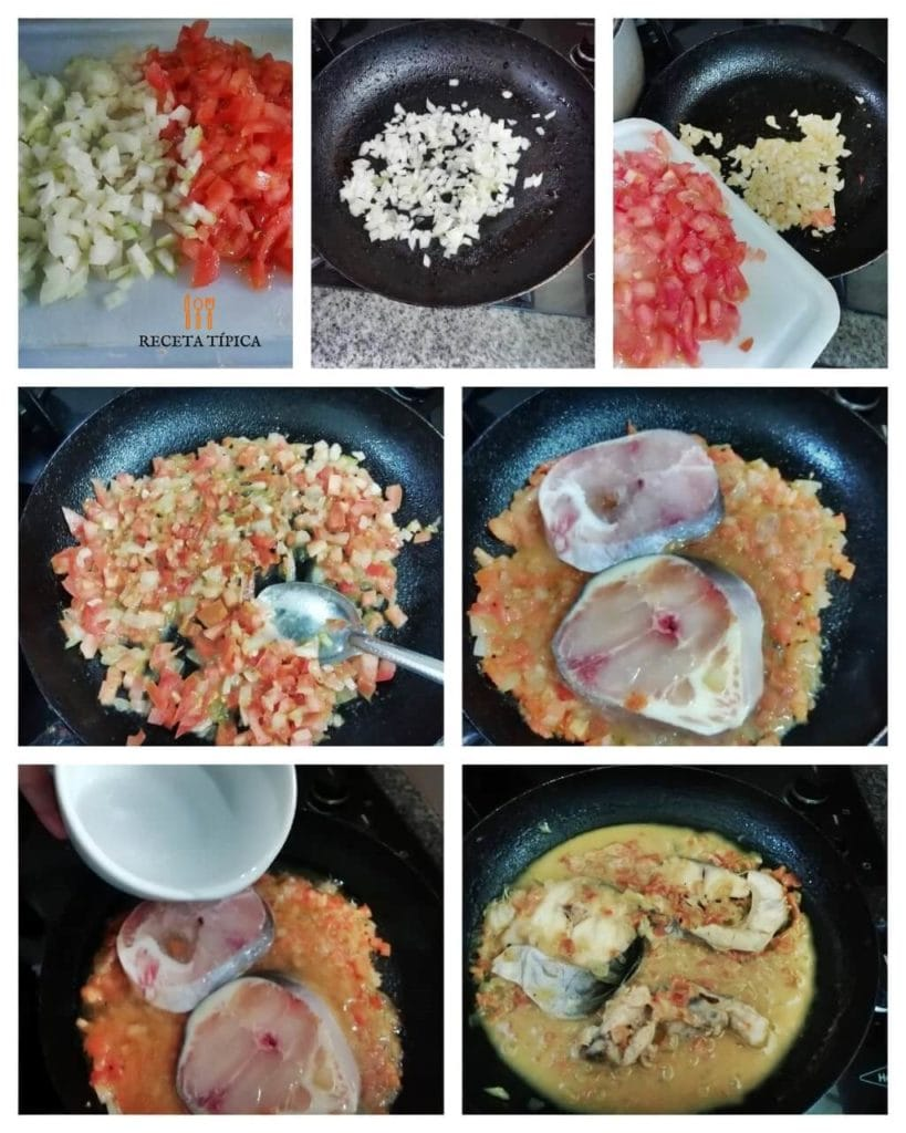 Step by step instructions Catfish in Sauce