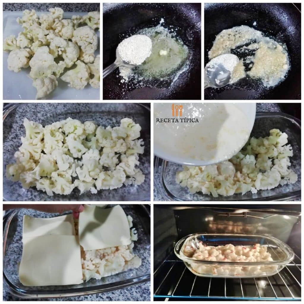 Step by step instructions Cauliflower Gratin with Cheese