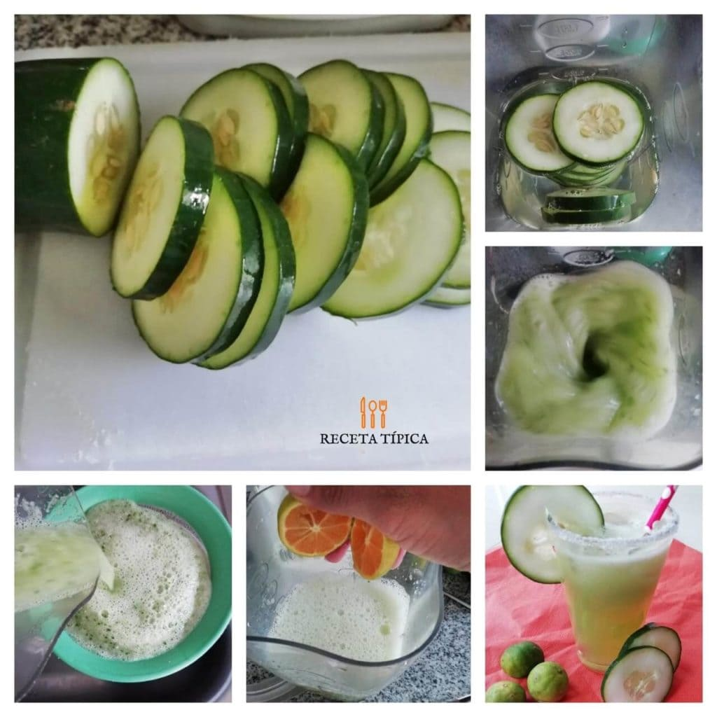 step-by-step instructions to prepare cucumber lemonade