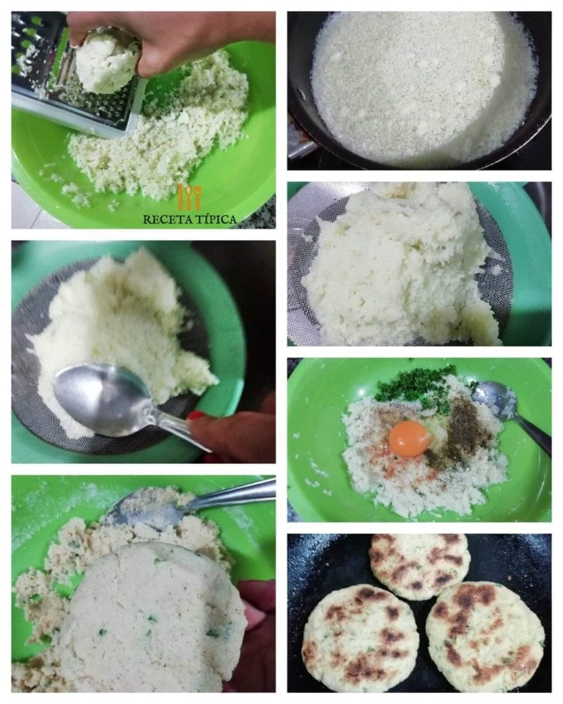 Step by step instructions cauliflower fritters