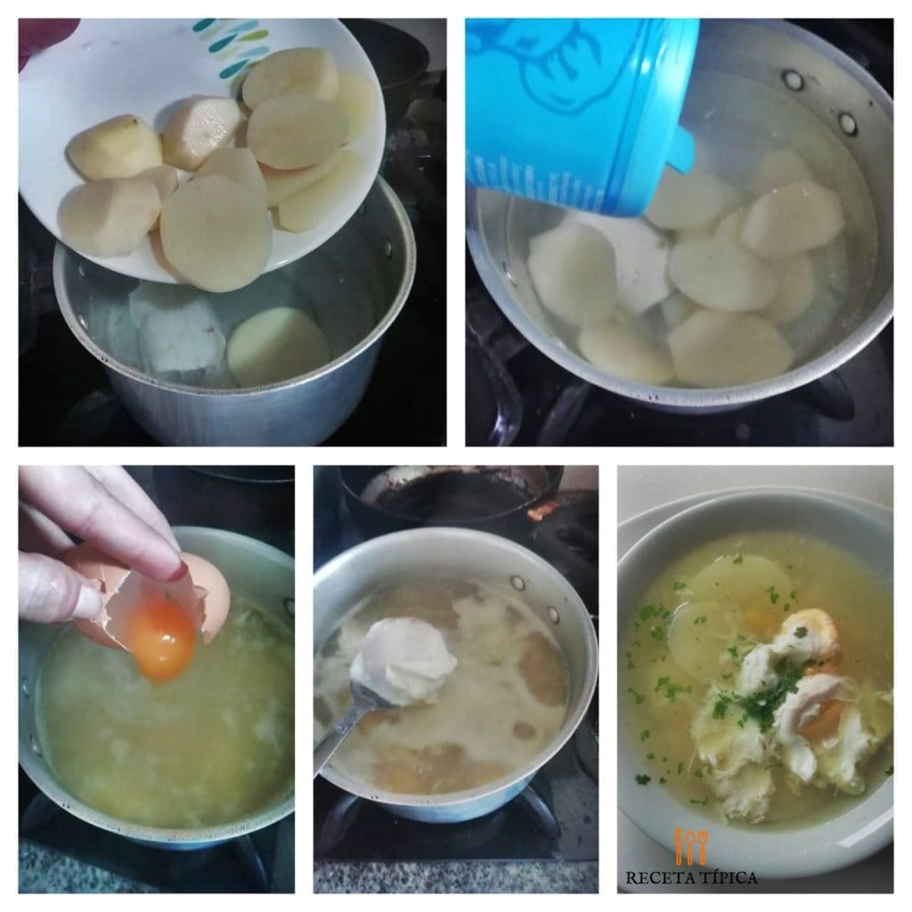Step by step instructions egg drop soup