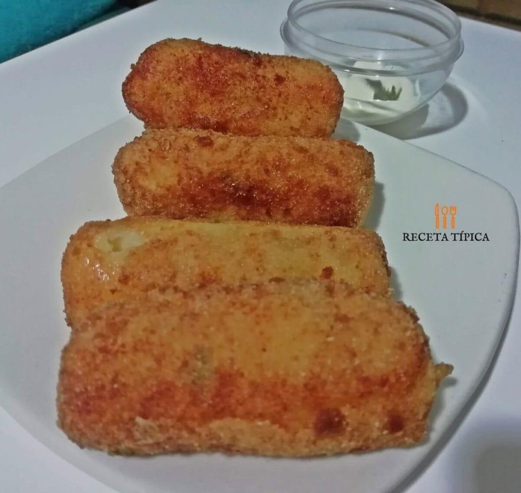 Dish with potato croquettes