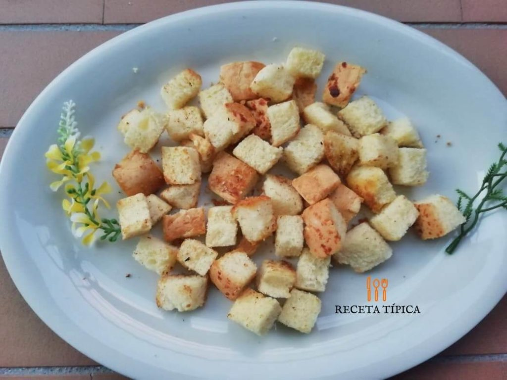 Dish with croutons