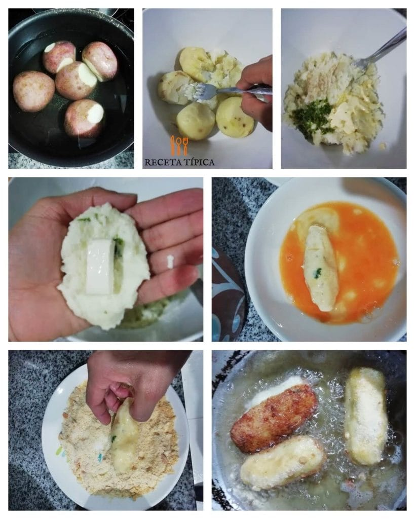 Step by step potato croquettes