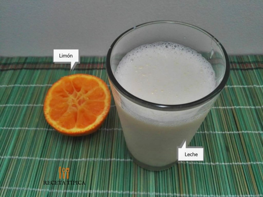Glass with buttermilk