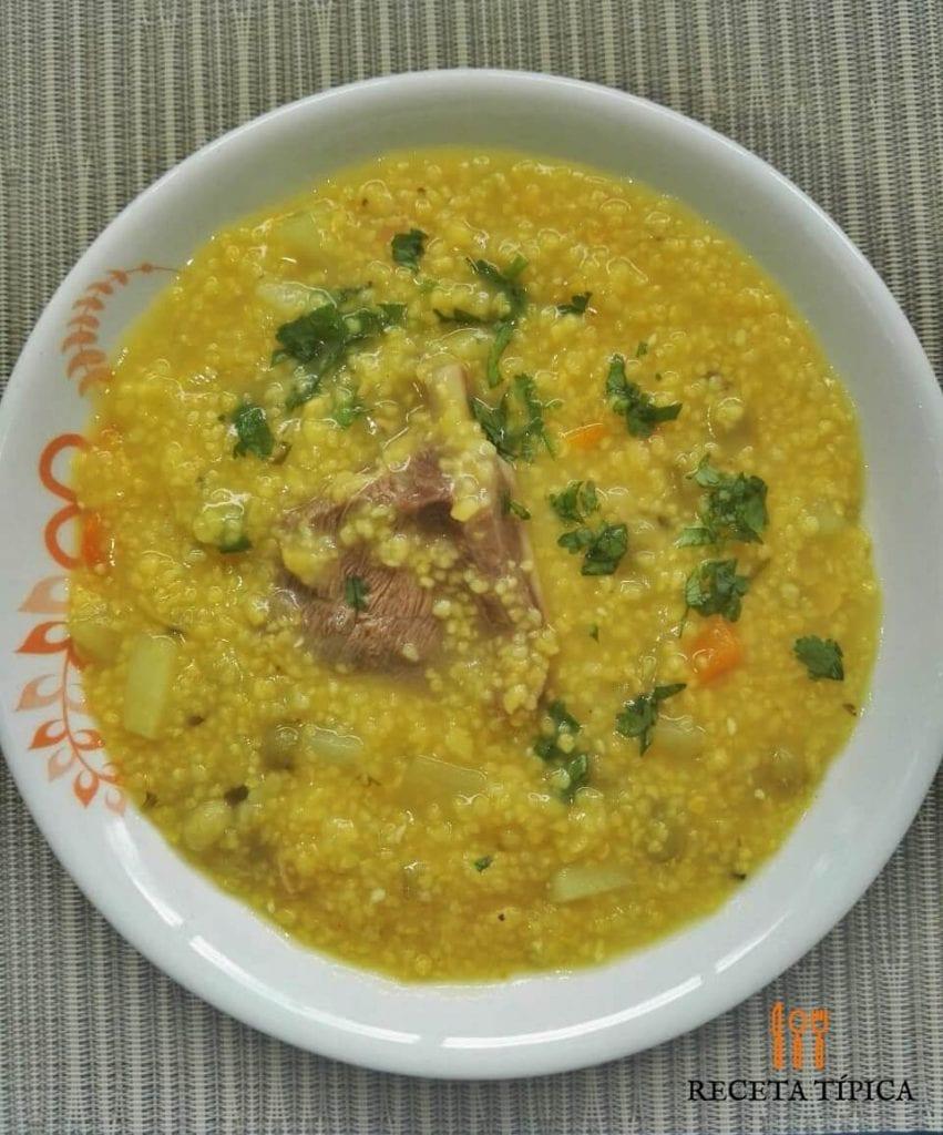 Dish with Cuchuco de Maíz