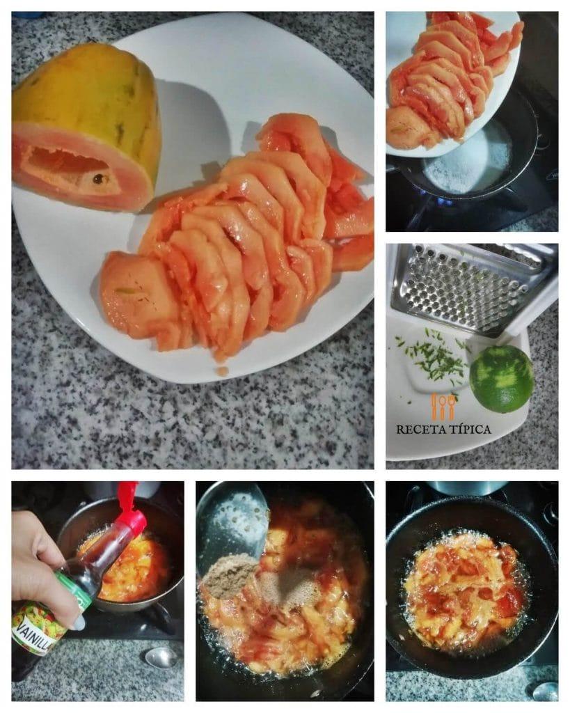 How to make papaya dessert