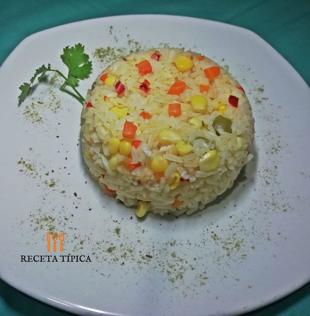 Plate with spring rice