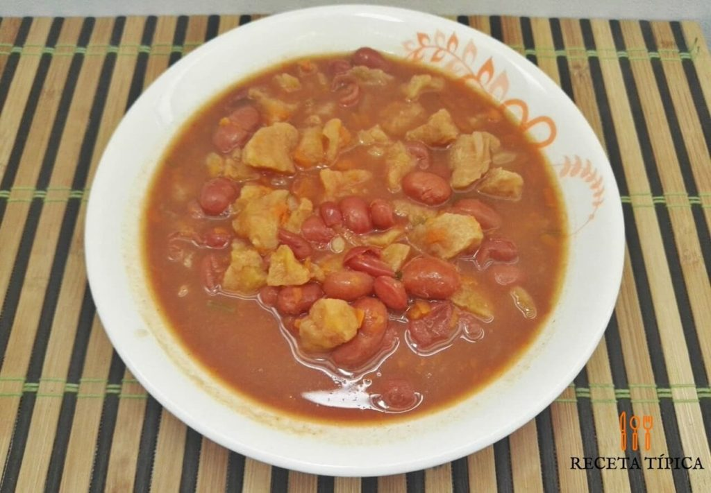 dish with beans soup
